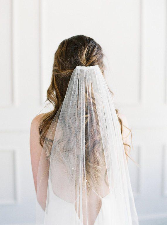 Crystal Wedding Veil with Blusher | JACINTA