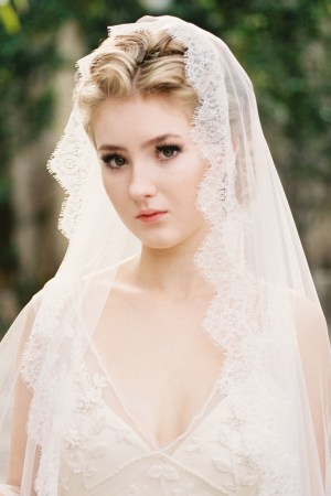Lace Wedding Veil | ADRIANNA