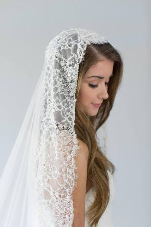 Lace Chapel Wedding Veil | ASHTON