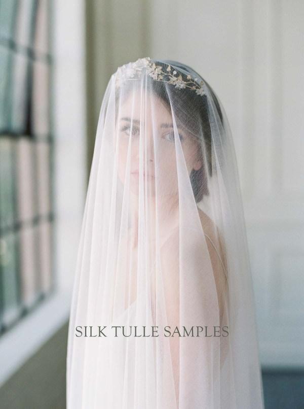Fabric Sample | Silk Tulle Veiling