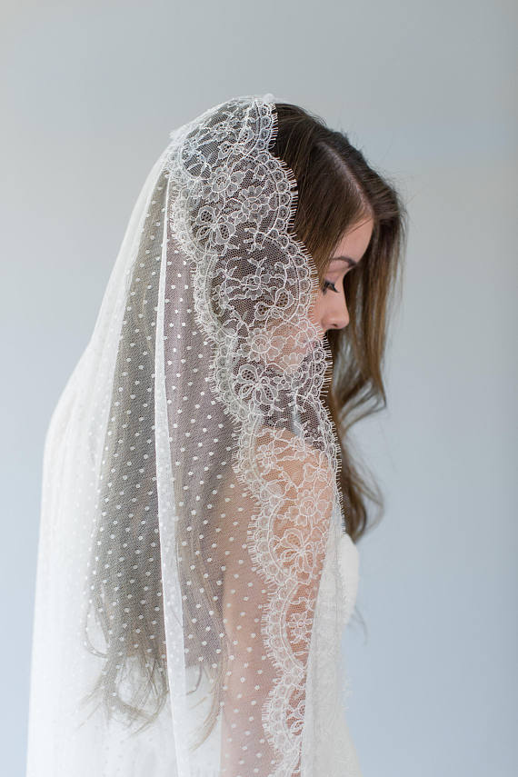 Polka Dot Bridal Veil | ADELISE