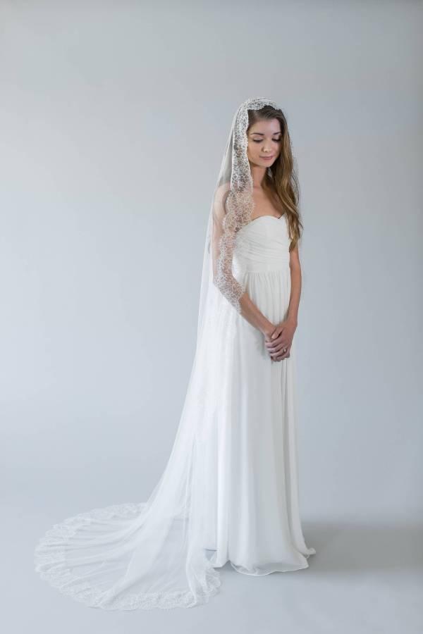 Lace Chapel Wedding Veil | ABELLA