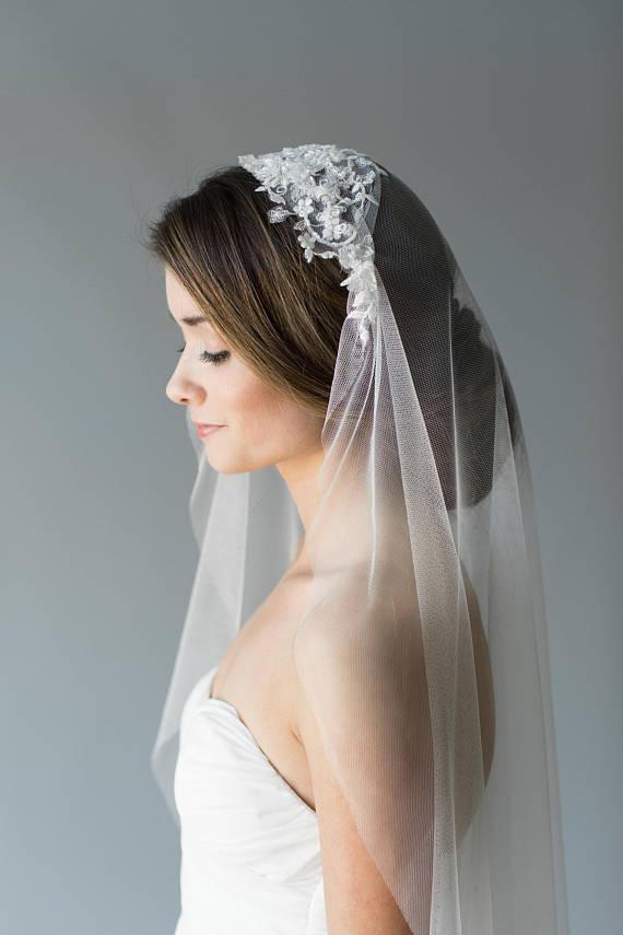 Vintage Style Bridal Veil | JUSTINA