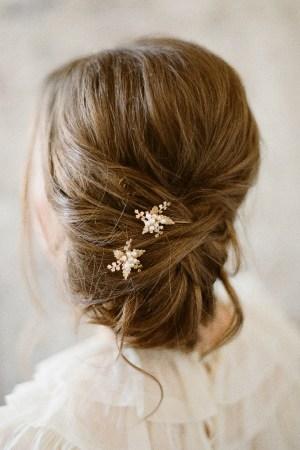 Floral Veil Hair Pins | SARAH