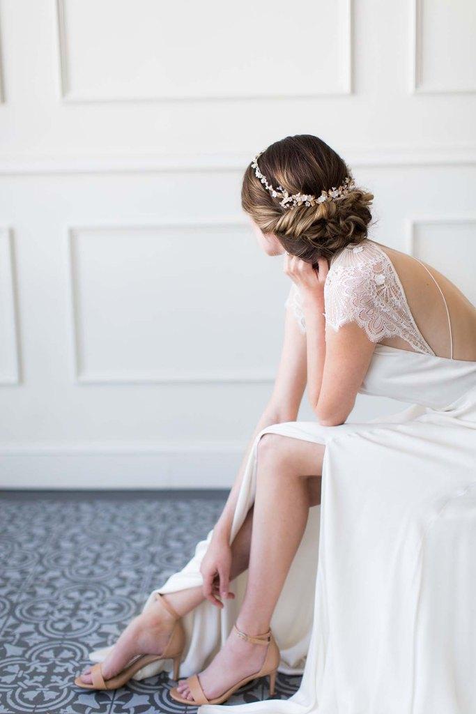 Gold Bridal Halo - GUIRLANDE de FLEUR
