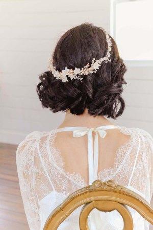 Rose Gold Floral Wedding Crown | GWENONWY