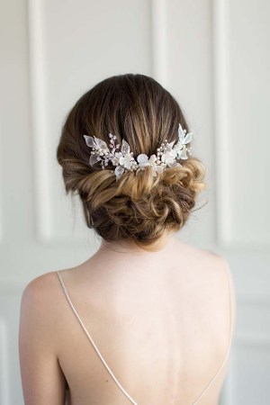 Flowering Bridal Hair Comb | FEUILLES D'ARGENT