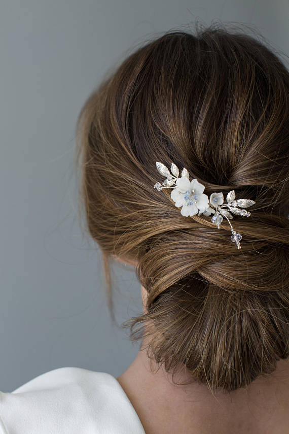 Silver Wedding Hair Comb | CLEMENTINE