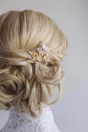 AVA | FLORAL WEDDING HAIR PIN