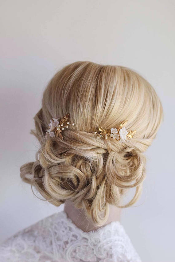 AVA | FLORAL WEDDING HAIR PIN