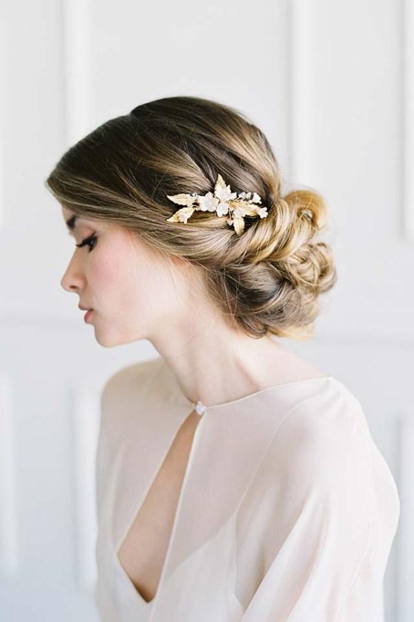 Gold Bridal Comb - YOLANDE