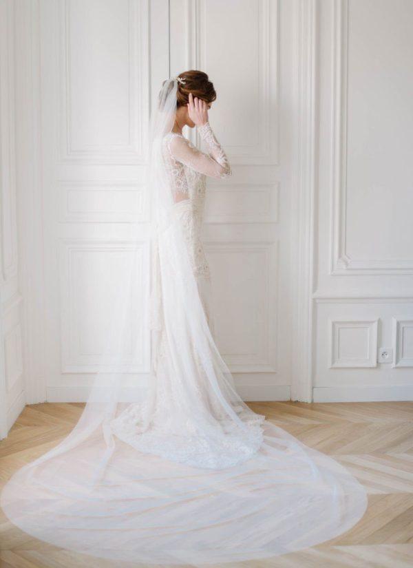 Minimalist Wedding Veil, Modern Wedding Veil