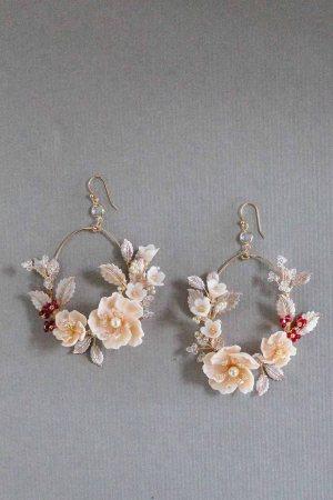 Bridal Hoop Earrings, Wedding Hoop Earrings, Wedding Jewelry