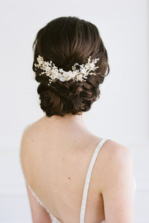 botanical bridal hair vine, wedding hair vine