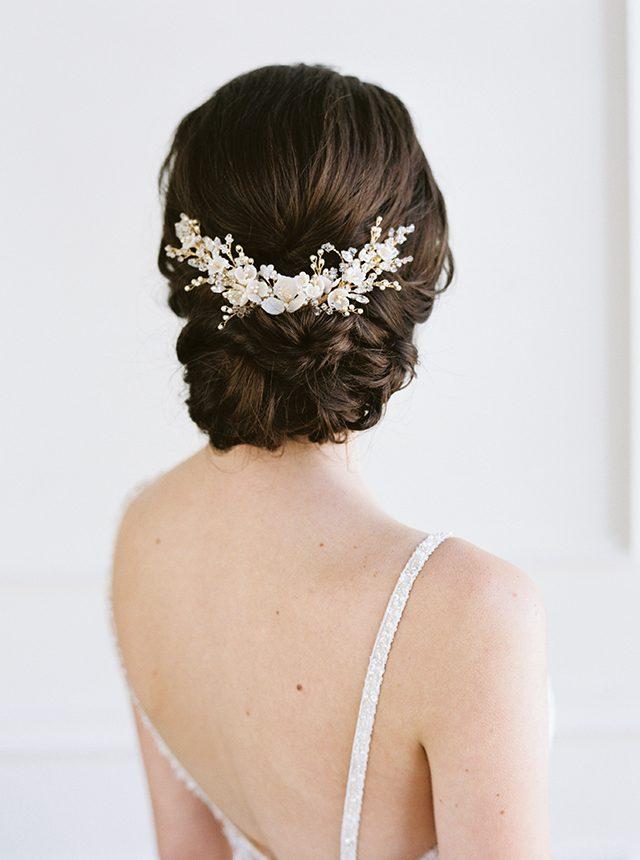 botanical bridal hair vine, wedding hair vine