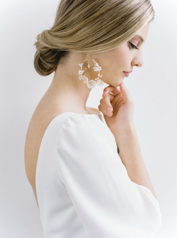 wedding earrings, bridal earrings