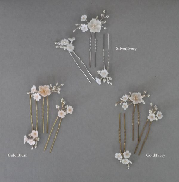 Wedding hair pins, bridal hair pins, wedding hair picks