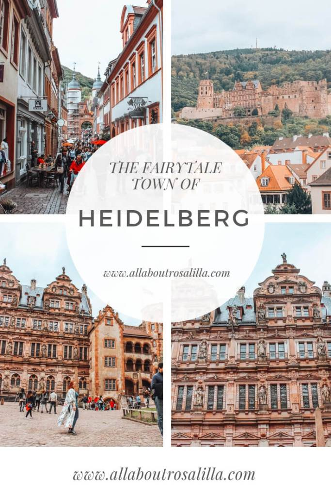 Images of Heidelberg germany with text overlay how to spend one day in Heidelberg germany