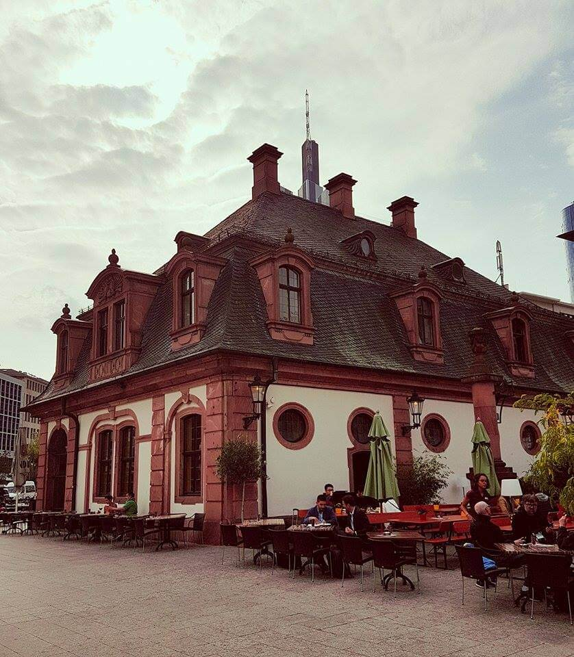 Cafe Hauptwache, the best place to enjoy hot chocolate in Frankfurt.