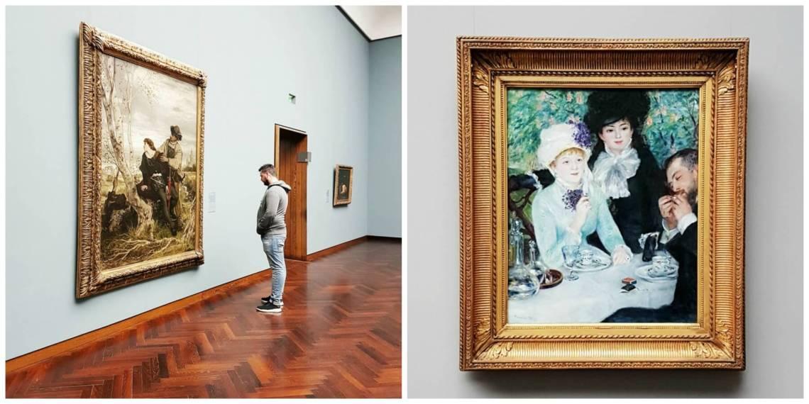 Enjoying the art at Stadel Museum in Frankfurt Germany.