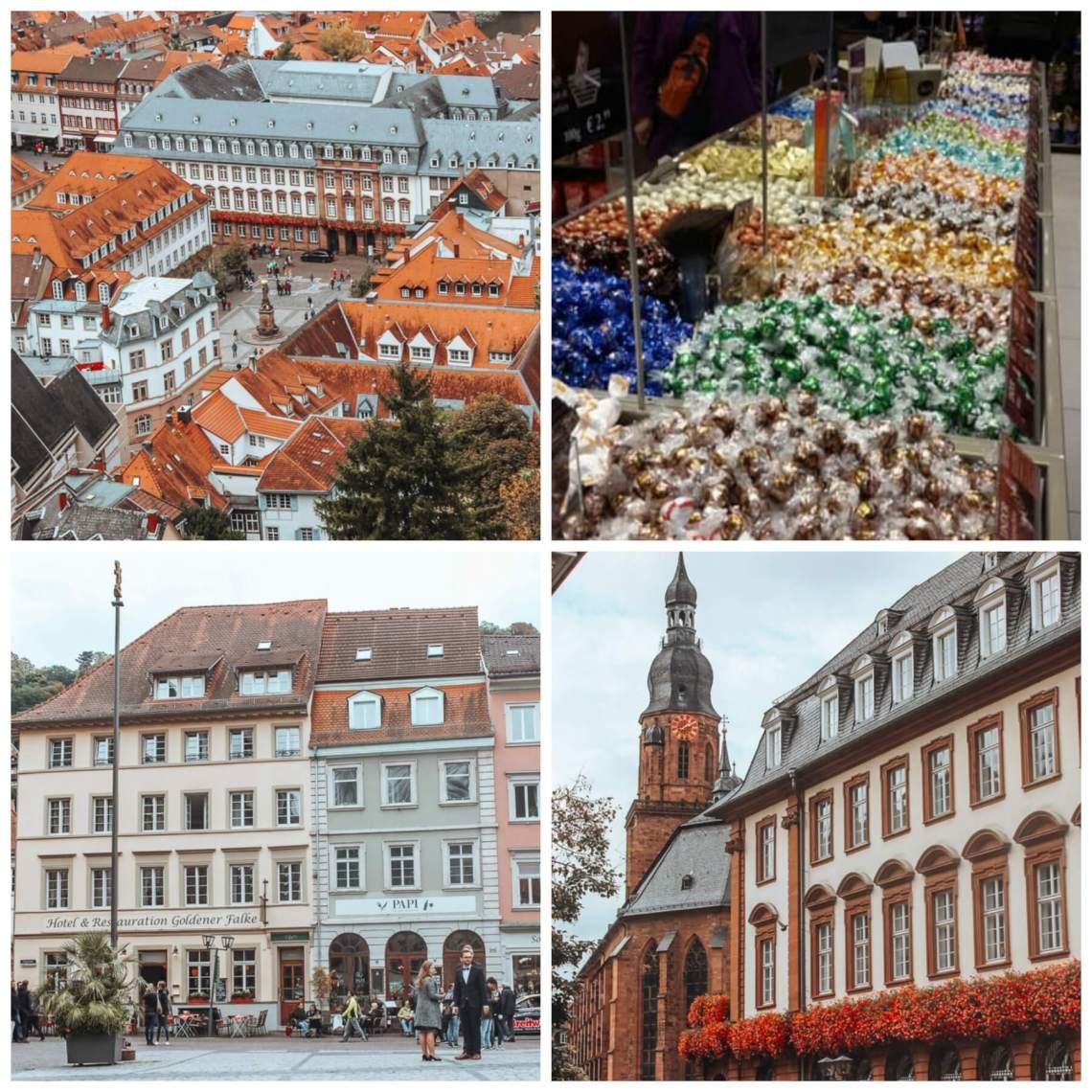 Woman exploring Heidelberg Altstadt a wonderful way to spend one day in Heidelberg Germany