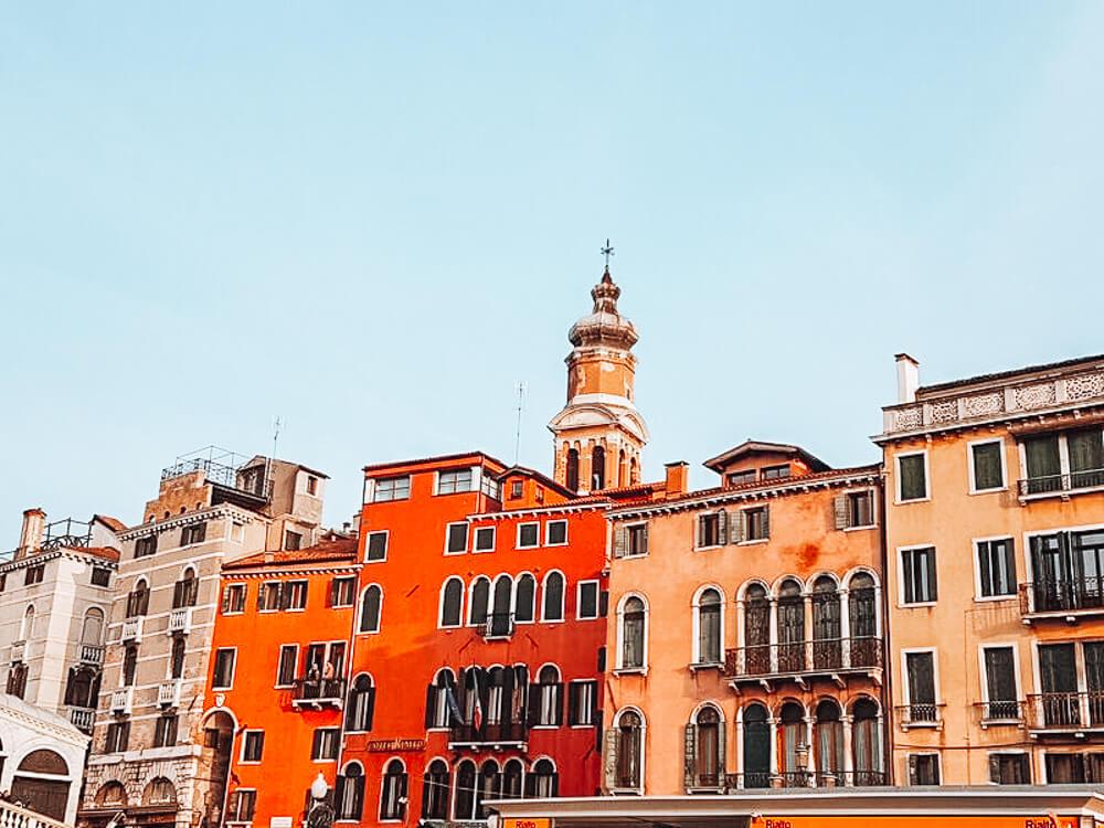 Colourful Venetian buildings