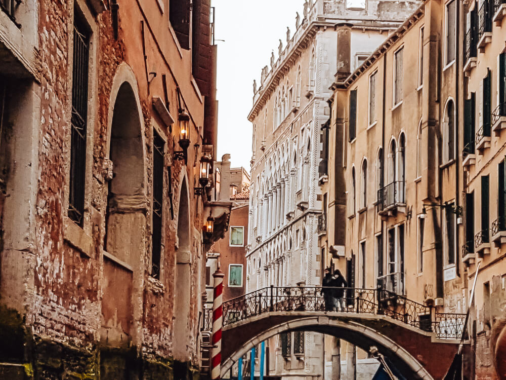Bridges over the canals of Venice
