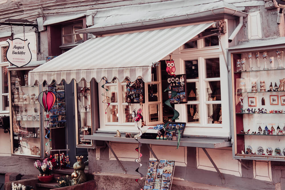 A pretty shop front in the fairytale village of Michelstadt