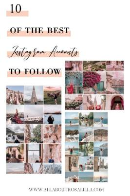 Ten of the best Instagram accounts to follow. Hey guys today on the blog I wanted to show you ten of the best Instagram accounts to follow. You may be already following these fabulous accounts, but if not I wanted to highlight to you why in my opinion they are must follows. Read more on www.allaboutrosalilla.com