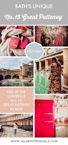 No.15 Great Pulteney: is this Bath's most unique hotel? There are so many beautiful places to stay in the city of Bath but No.15 Great Pulteney is in a class of its own. Not only is it a luxury boutique hotel in the heart of the city, but it is one of the most unique hotels I've stayed in. Read more on www.allaboutrosalilla.com