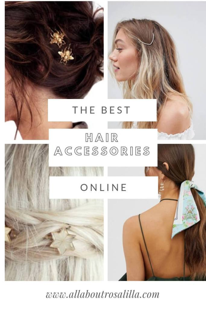 Get ready for spring and make sure that you are on trend  with ten of the best hair accessories online at the moment. Read more on www.allaboutrosalilla.com #tuesdayten #hairaccessories #hairclips #hairslides