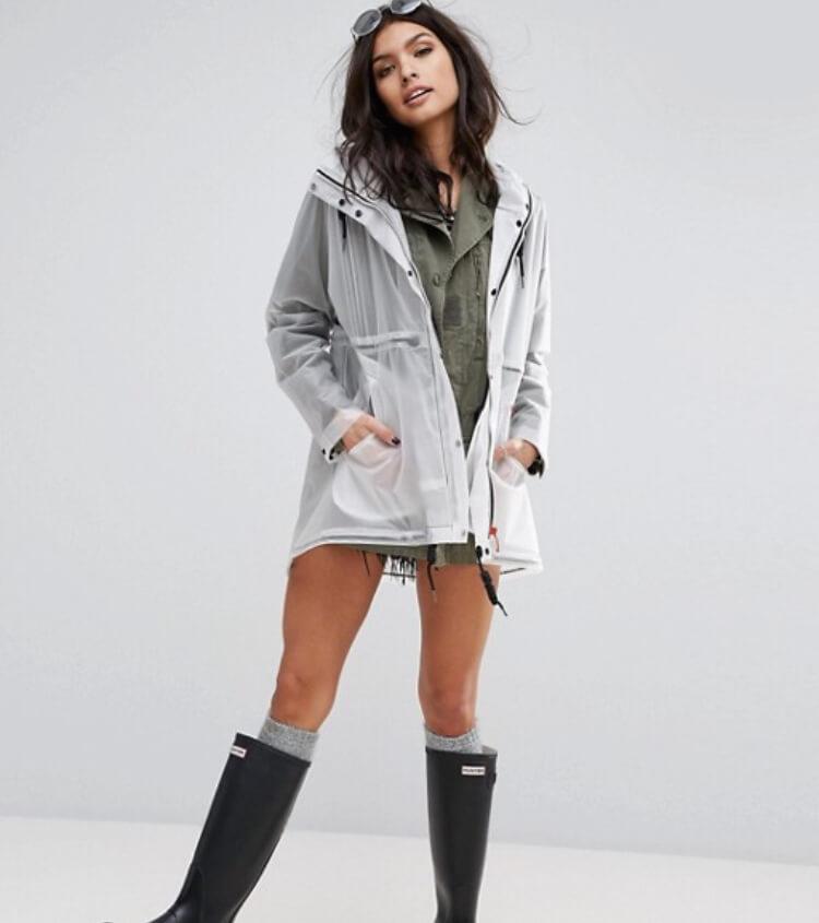 Hunter womens festival original raincoat