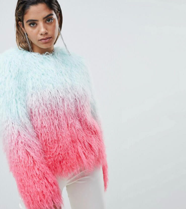 ASOS Design Mongolian Ombre Faux Fur Festival Jacket. The perfect festival look. Read more on www.allaboutrosalilla.com