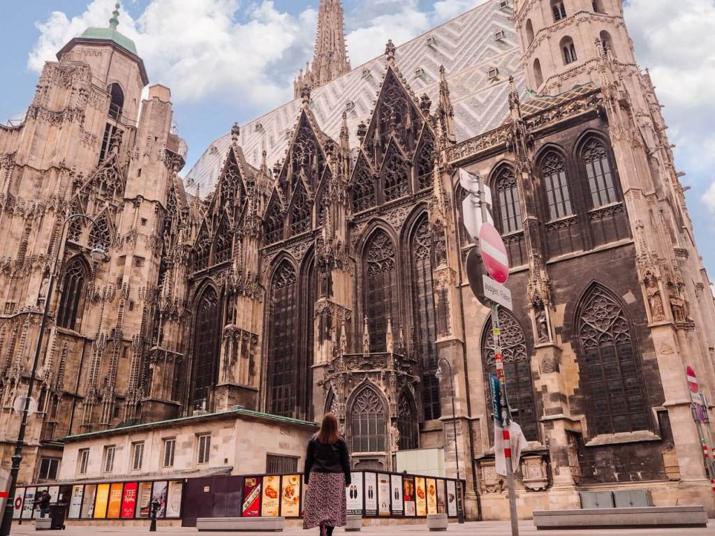 Outside of St Stephen's Cathedral Vienna