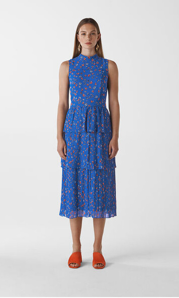 Whistles Blue Floral Tiered Dress. My top 10 floral dresses from the highstreet. Read more on www.allaboutrosalilla.com