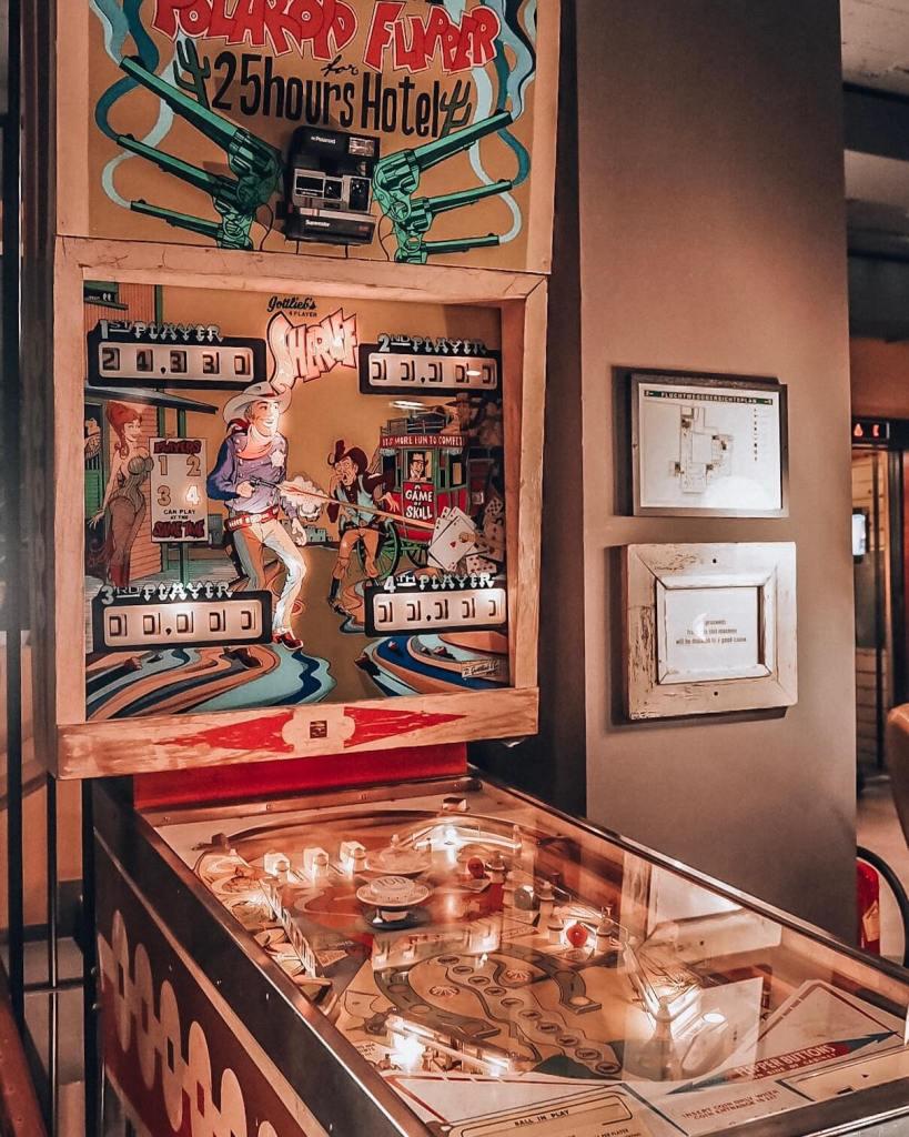 pinball machine in vienna hotel