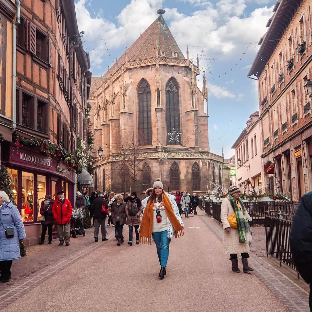 Shopping at the Colmar Christmas Markets.