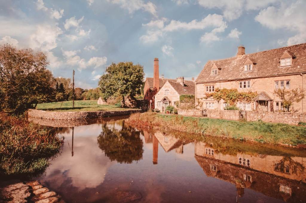 A pretty village in the Cotswolds England