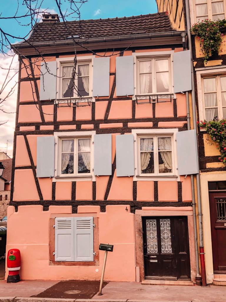 Colourful facades of the buildings of Colmar.