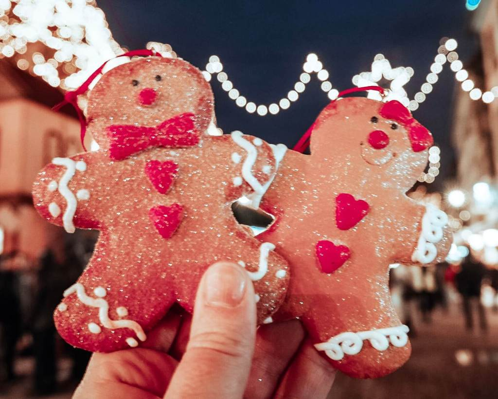 Gingerbread men at the Colmar Christmas Markets.