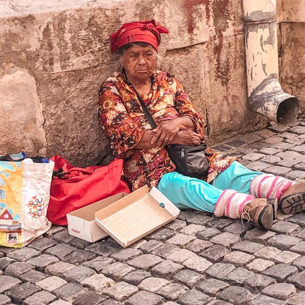 Homeless woman in Bucharest Romania. Read more on www.allaboutrosalilla.com