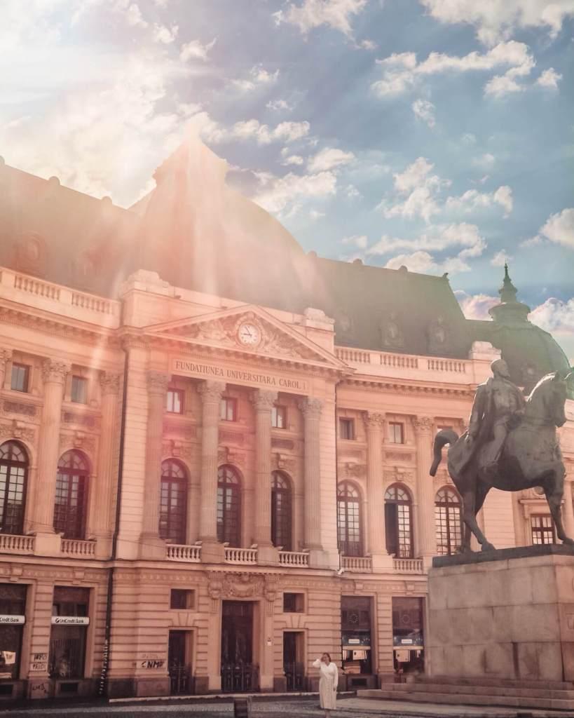 Parisian style architecture in Bucharest Romania. Read more on www.allaboutrosalilla.com