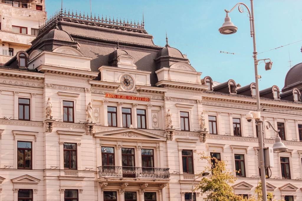 Grand Hotel du Boulevard in Bucharest Romania. Read more on www.allaboutrosalilla.com