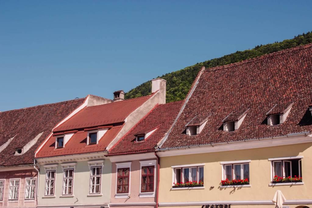 Colourful houses in Romania. Read more on www.allaboutrosalilla.com