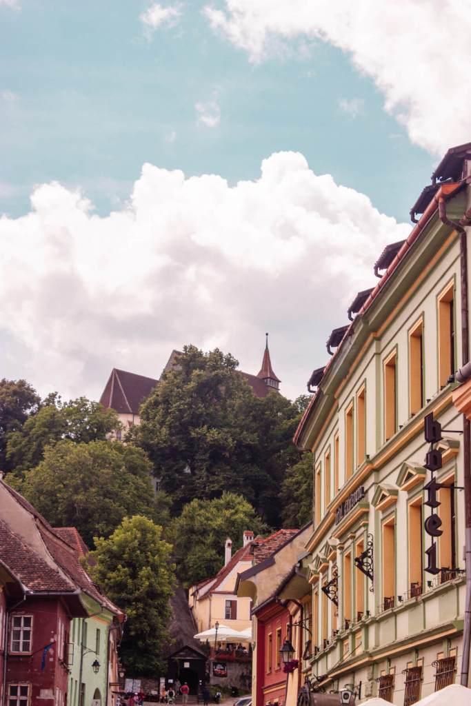 The streets of Brasov in Romania. Read more on www.allaboutrosalilla.com
