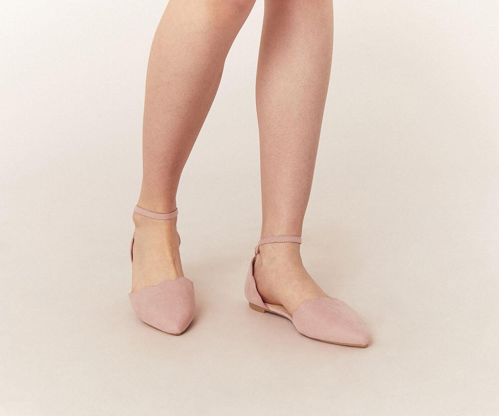 Pink scallop flat shoes Oasis
