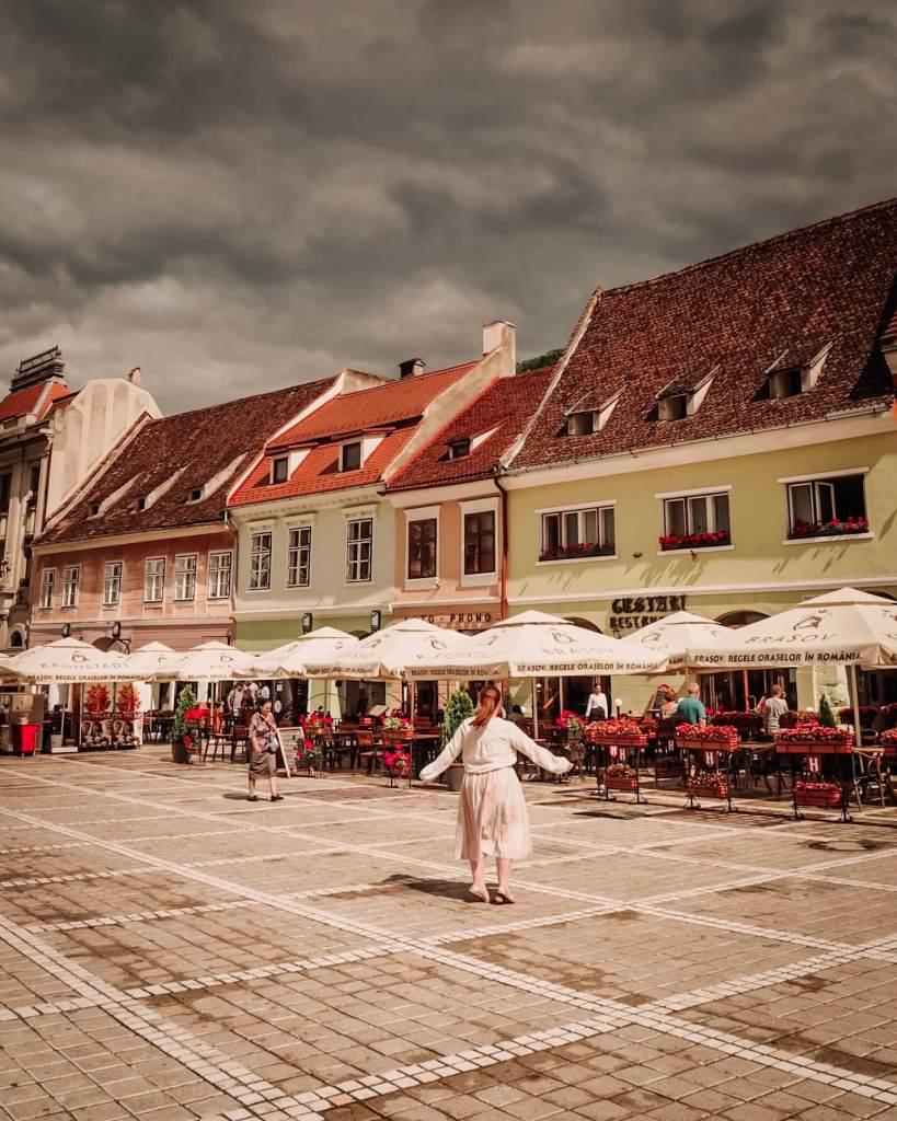 Exploring Brasov in Transylvania Romania.