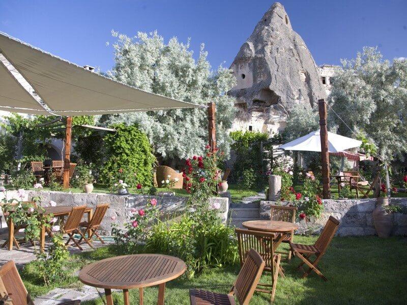 Rose garden at Kelebek Special Cave Hotel
