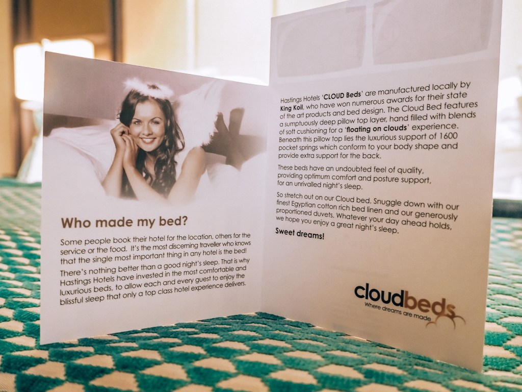 Cloud beds at the Grand Central Hotel Belfast