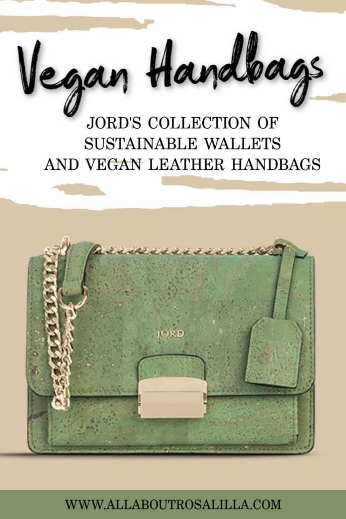 Green Vegan Handbag with text overlay